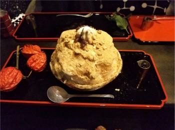 【至高の逸品!!】オトナの甘味を堪能する『黒蜜きな粉かき氷ソフト』♡♡@厨otonaくろぎ