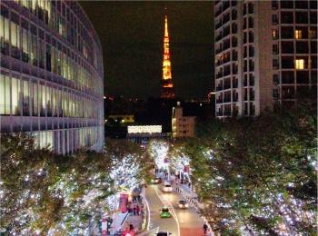 六本木の冬の風物詩【けやき坂イルミネーション】東京タワーとのコラボが幻想的♡