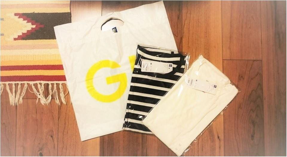 →【coordinate♡】1000円でお釣り!GUのTシャツ・ほんわかモノトーンコーデ☆彡① Myu2._1
