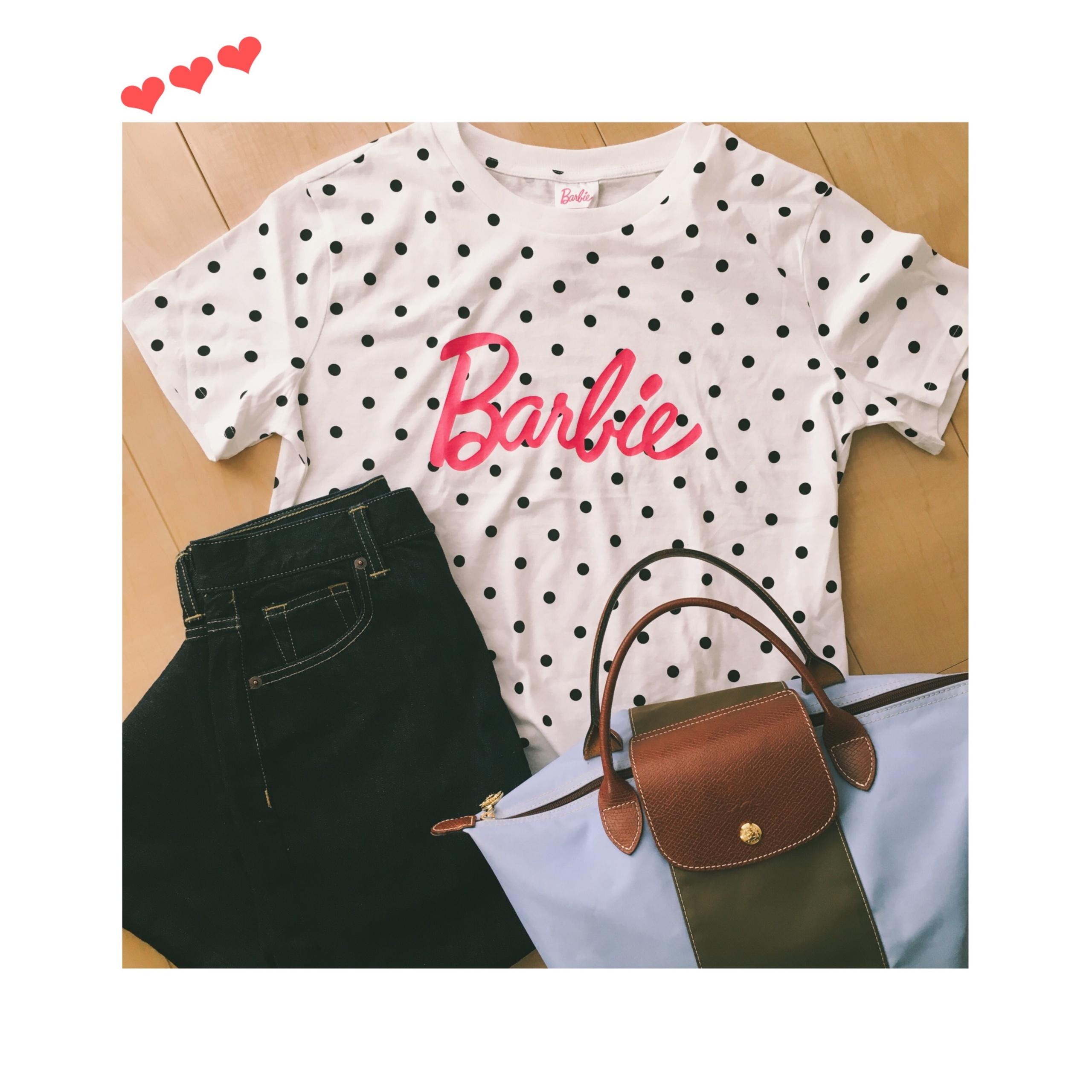 《大人が着ても可愛い♡》【GU】初のコラボ★大人気!BarbieとのコラボTシャツを¥790+税でgetしました✌︎❤️_2
