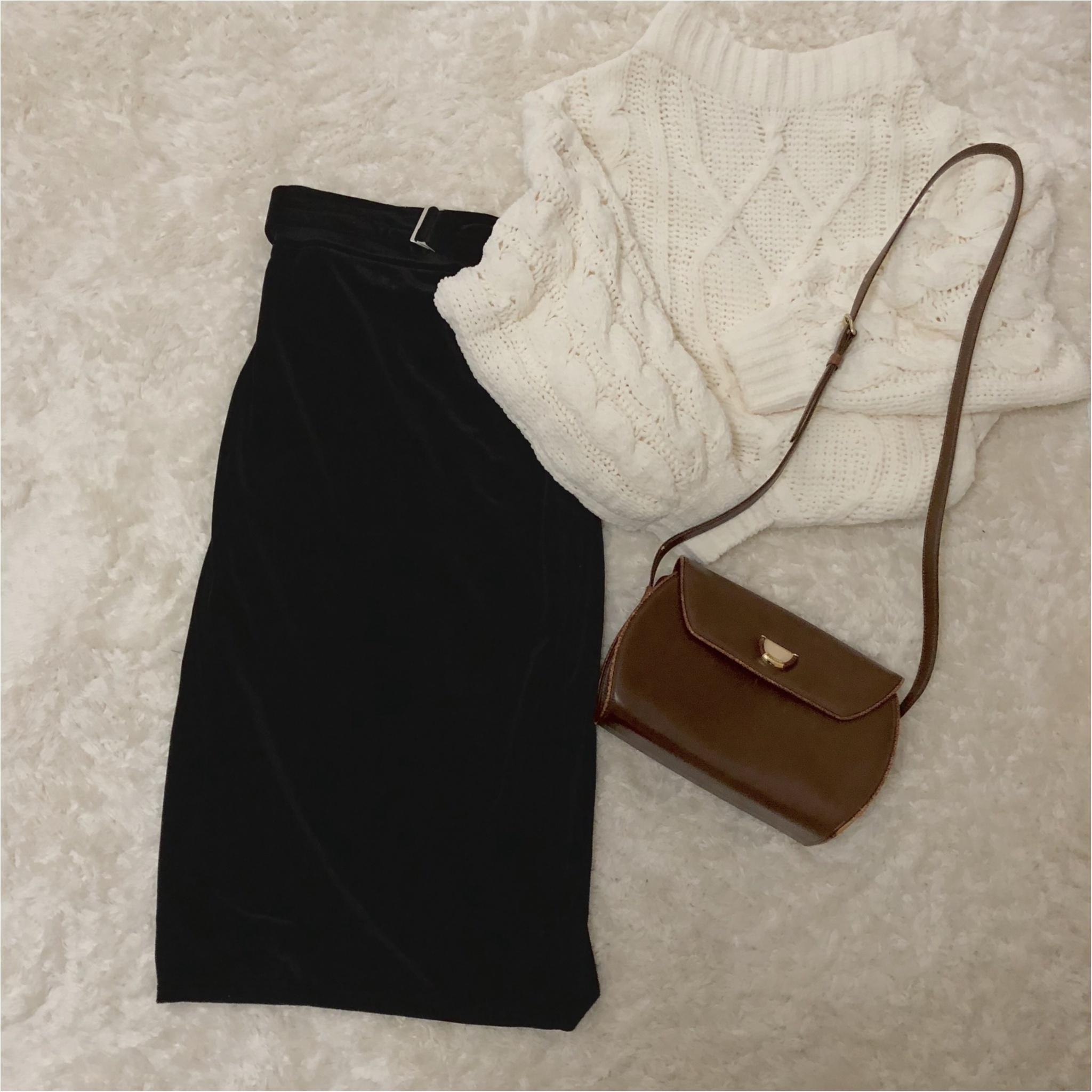 形が可愛い♡Knitが1990円?!冬のニットは【GU】で♡ ベロア素材のタイトスカートもプチプラ価格。_4