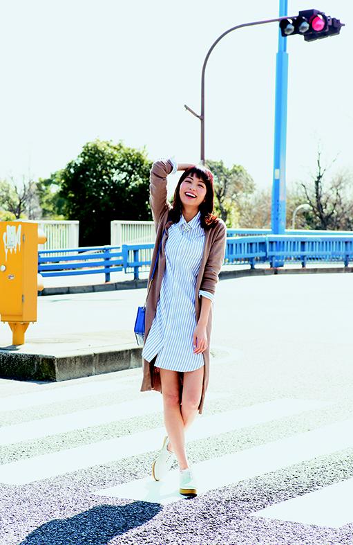 【今日のコーデ】ハッピーな週明けを予感させる爽やかなシャツワンピ♡_1