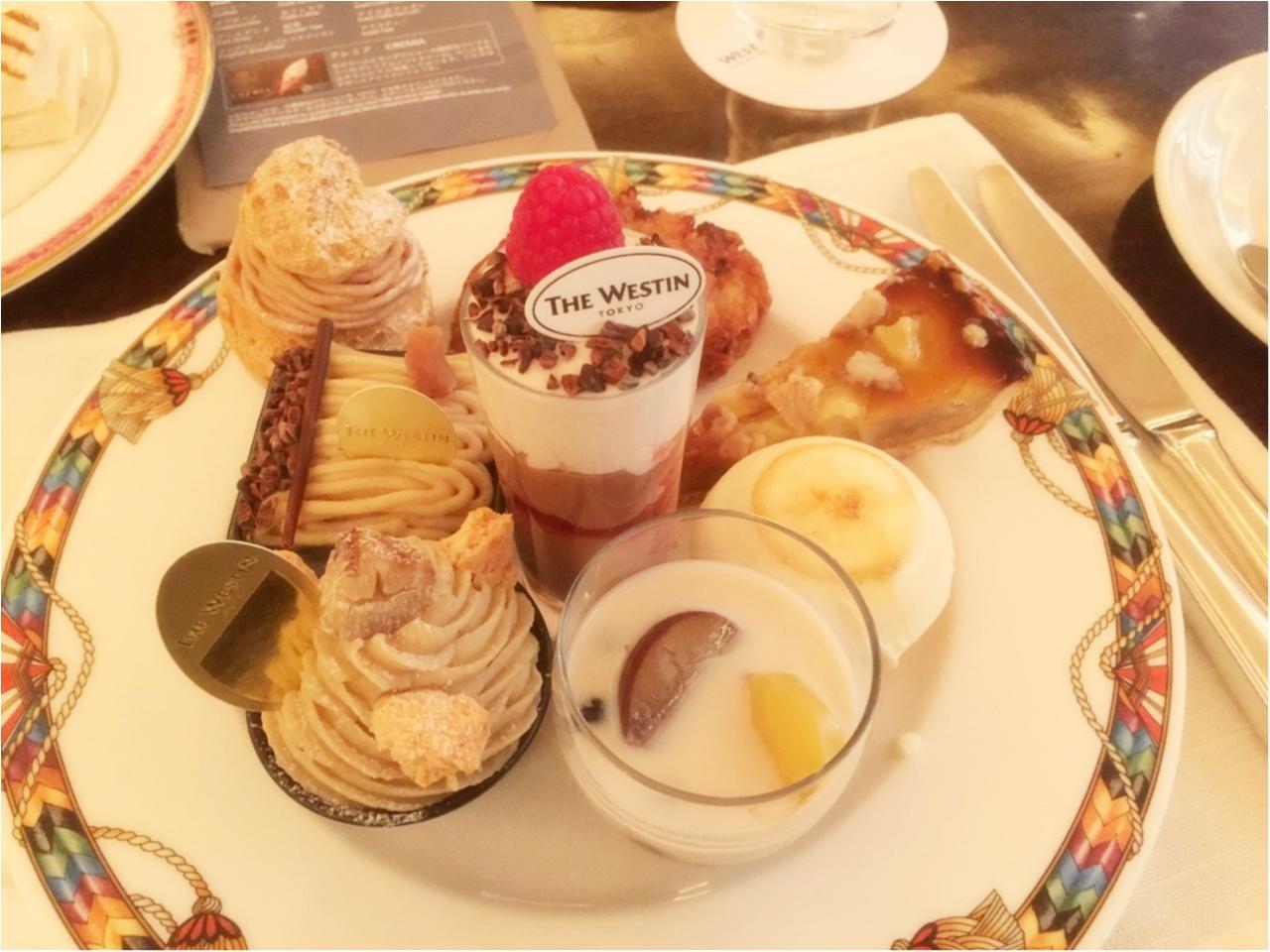 平日の昼間から優雅な気分で♩ウェスティンホテル東京の『マロン・デザートブッフェ』♡*_5