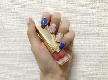 【ジェルネイル】キラキラ&爽やかがカギ!春⇒夏シフトネイル