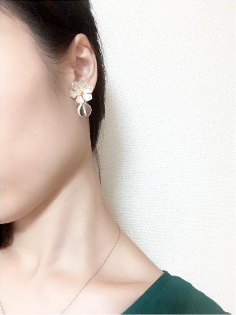 メタルとクリアがおとな可愛い【Ane Mone-アネモネ-】のイヤリング♡_3