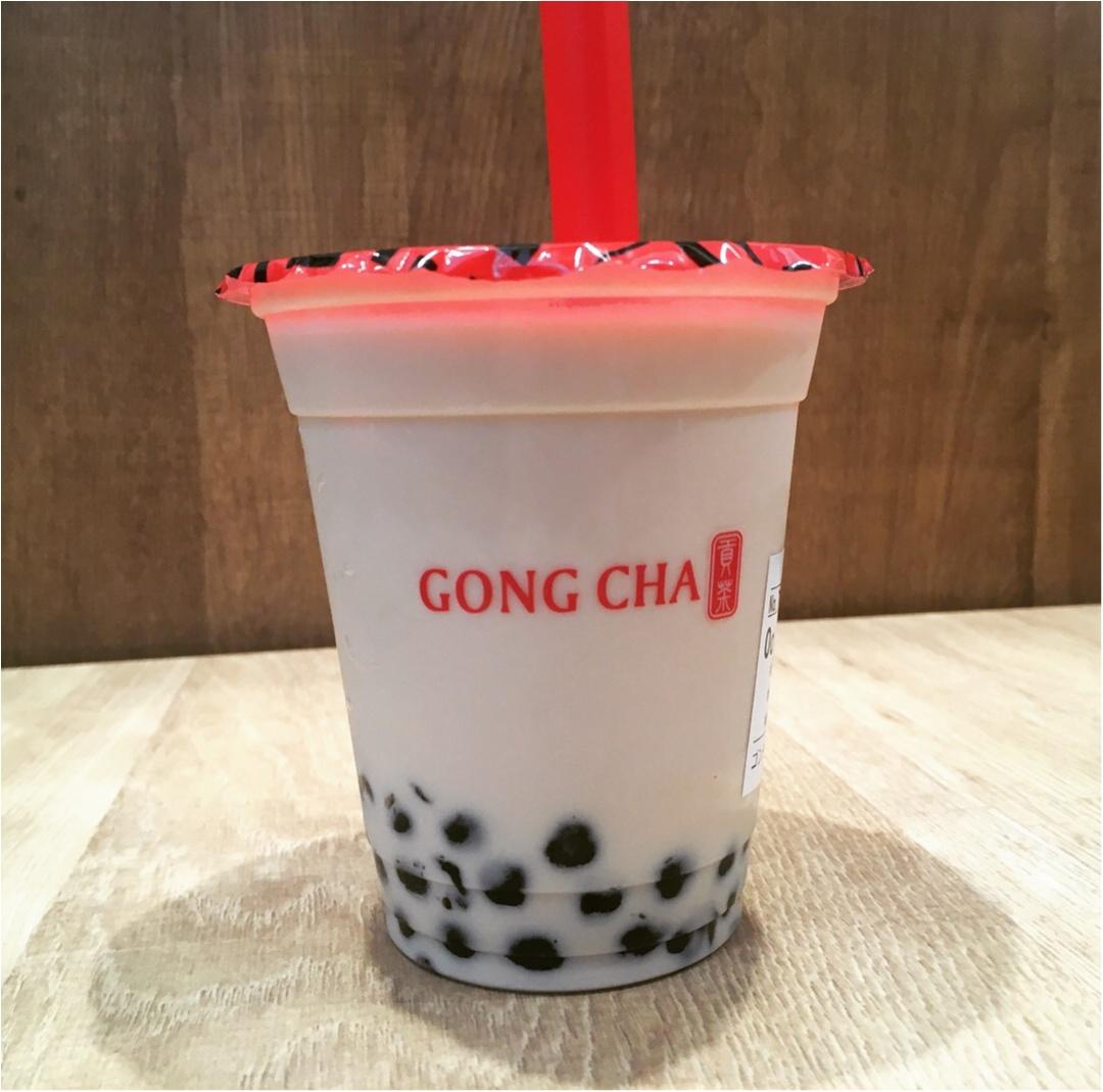 Gongcha!ウーロンミルクタピオカティー飲んだことある?!_3