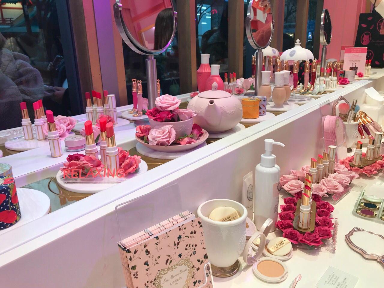 ピンクが可愛い❤︎ラデュレのイベントスペース!_1