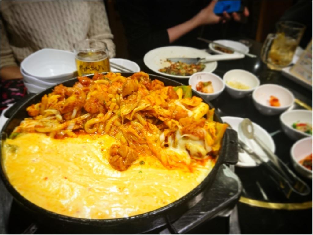 【 グルメ 】SNS 映え抜群 ★ とろ~っとろっのチーズが魅力 ! 話題沸騰中の『チーズタッカルビ』を食べに行こう ♪_5