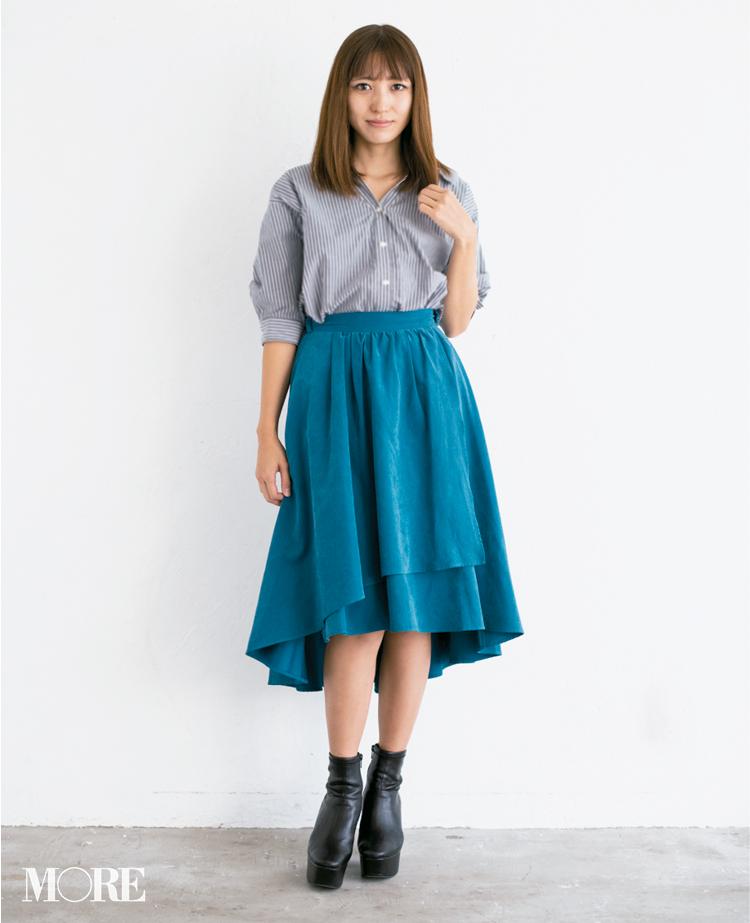 【読者変身】無難、甘すぎ、いつも同じ……きれい色スカートのお悩み、スタイリスト高野さんが解決します☆_3_1
