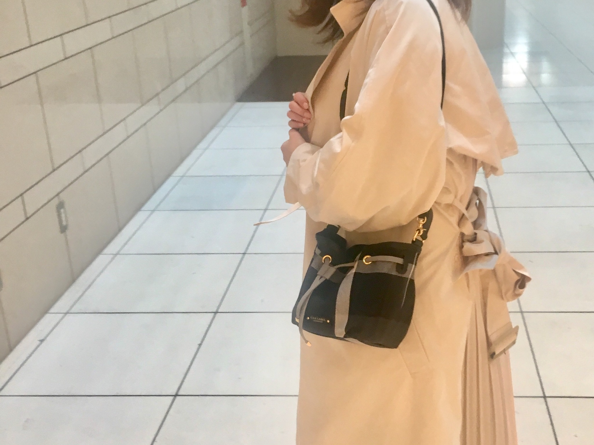 コロンとかわいいBLUE LABEL CRESTBRIDGE×MOREコラボ巾着バッグ、こんなに入ります❤︎_4