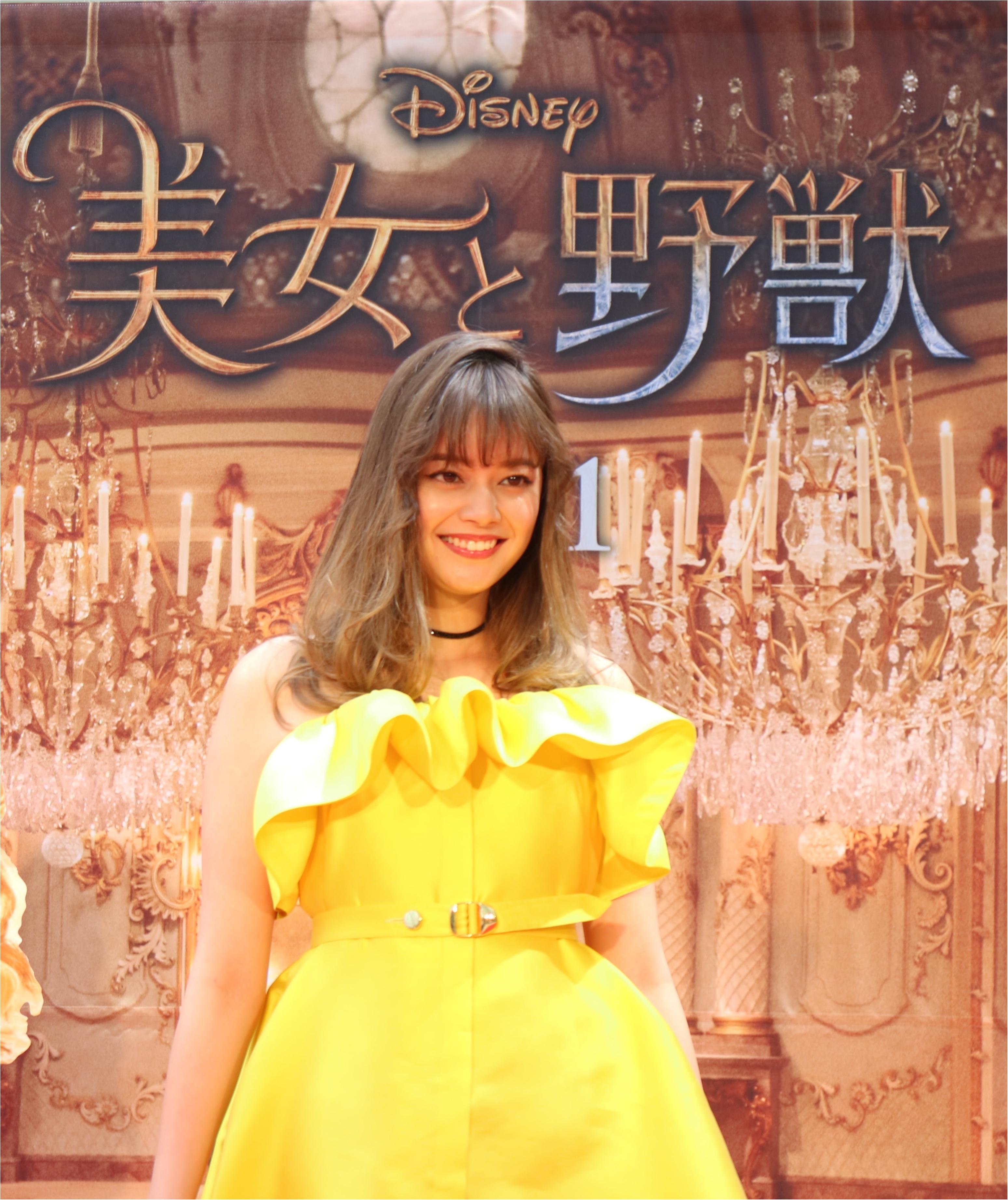 岸本セシルが映画『美女と野獣』レッドカーペットに登場! ベルイエローのドレス姿が美しすぎる♡_2