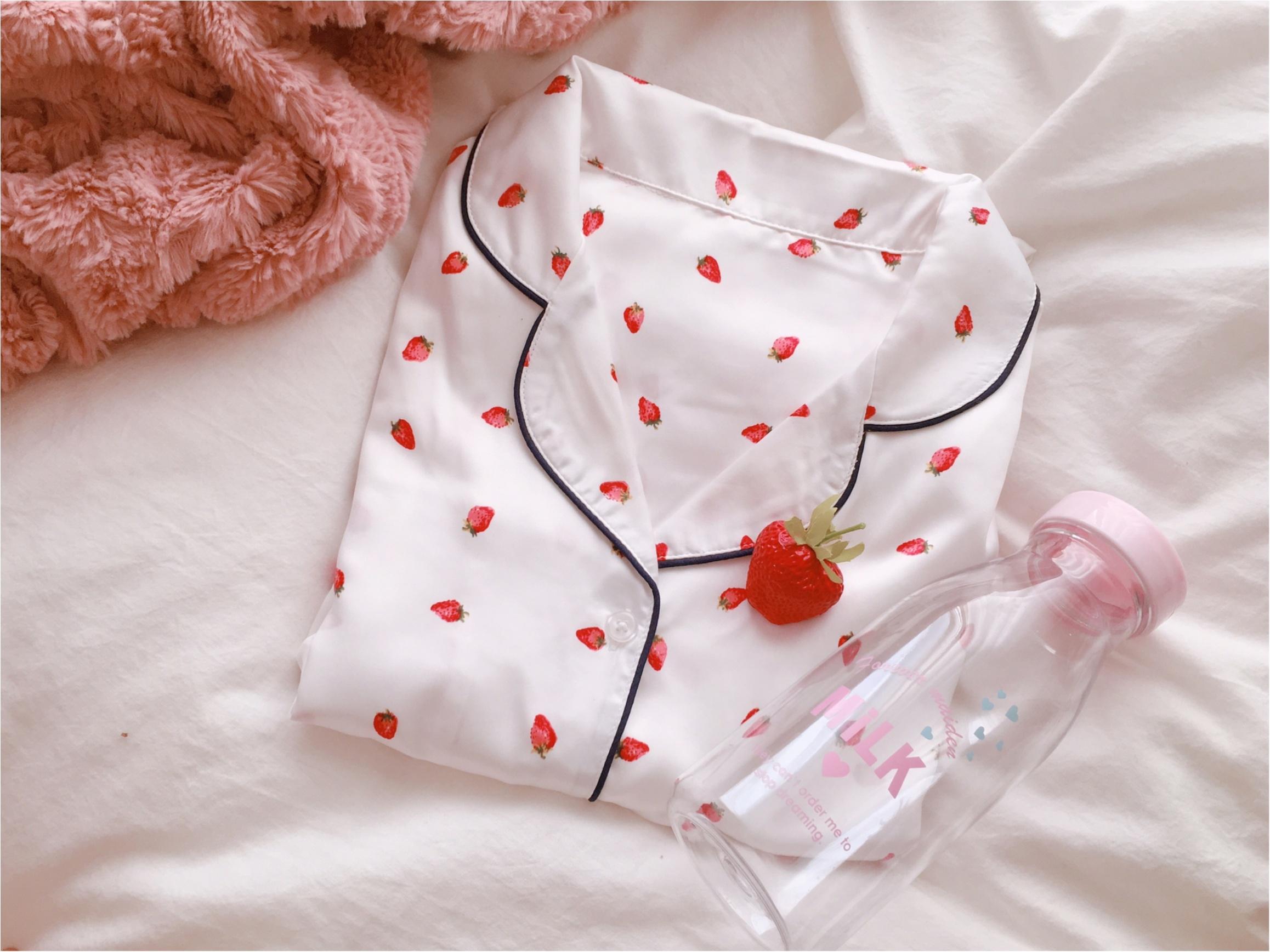 【GU(ジーユー)】いちごパジャマがかわいすぎて春が待ち遠しい!_2