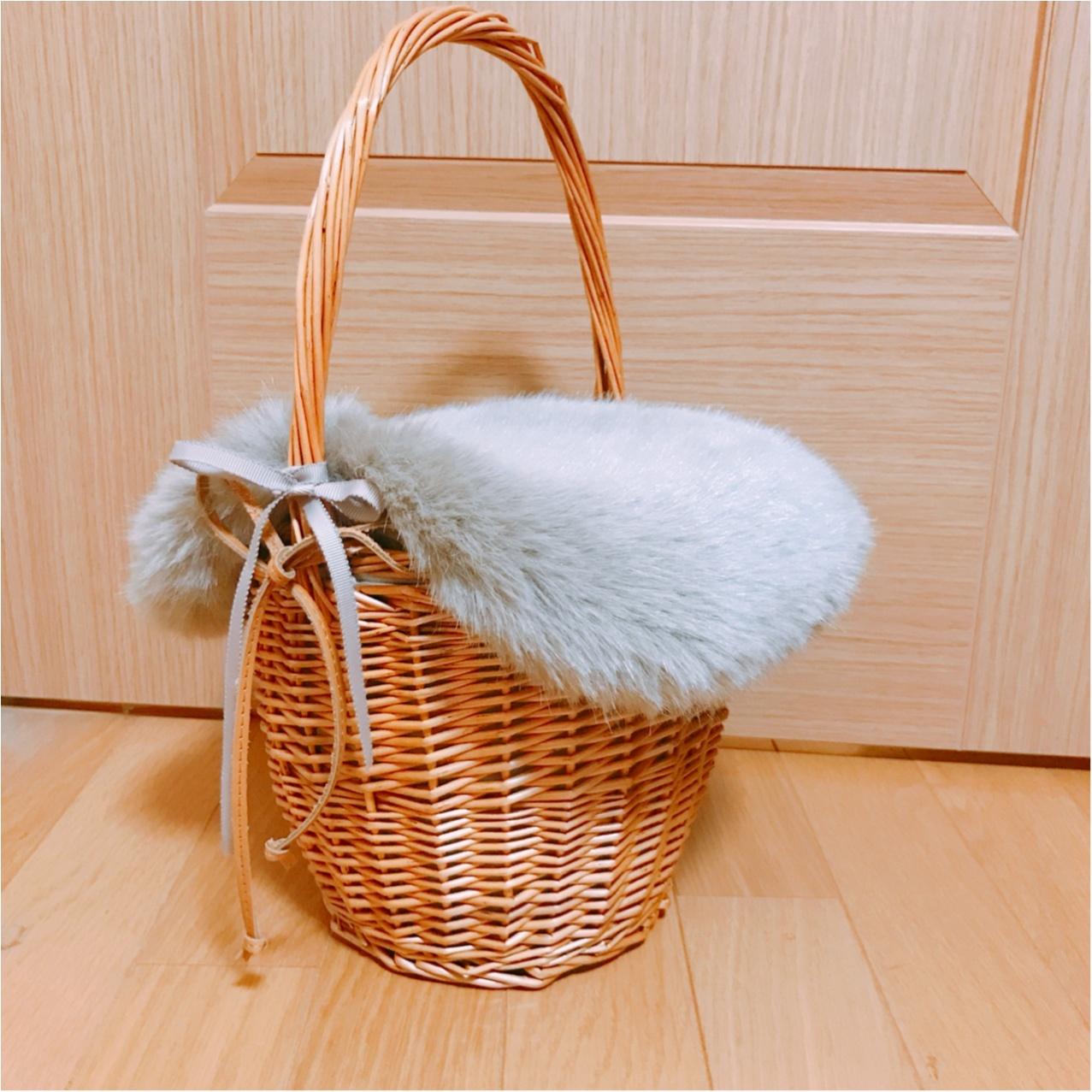 おしゃれさんは冬でも持ってる!?【かごバッグ】を冬仕様にリメイク♡_2