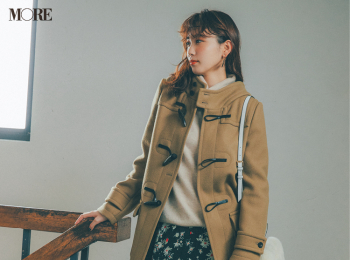 【今日のコーデ】<飯豊まりえ>自分史上最高ダッフルコート今季初登場♡花柄スカートとの最愛コーデで