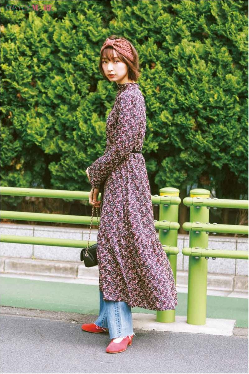 【今日のコーデ】風に揺れる花柄マキシワンピで、いつものデニムを素敵にドレスアップ♡_1