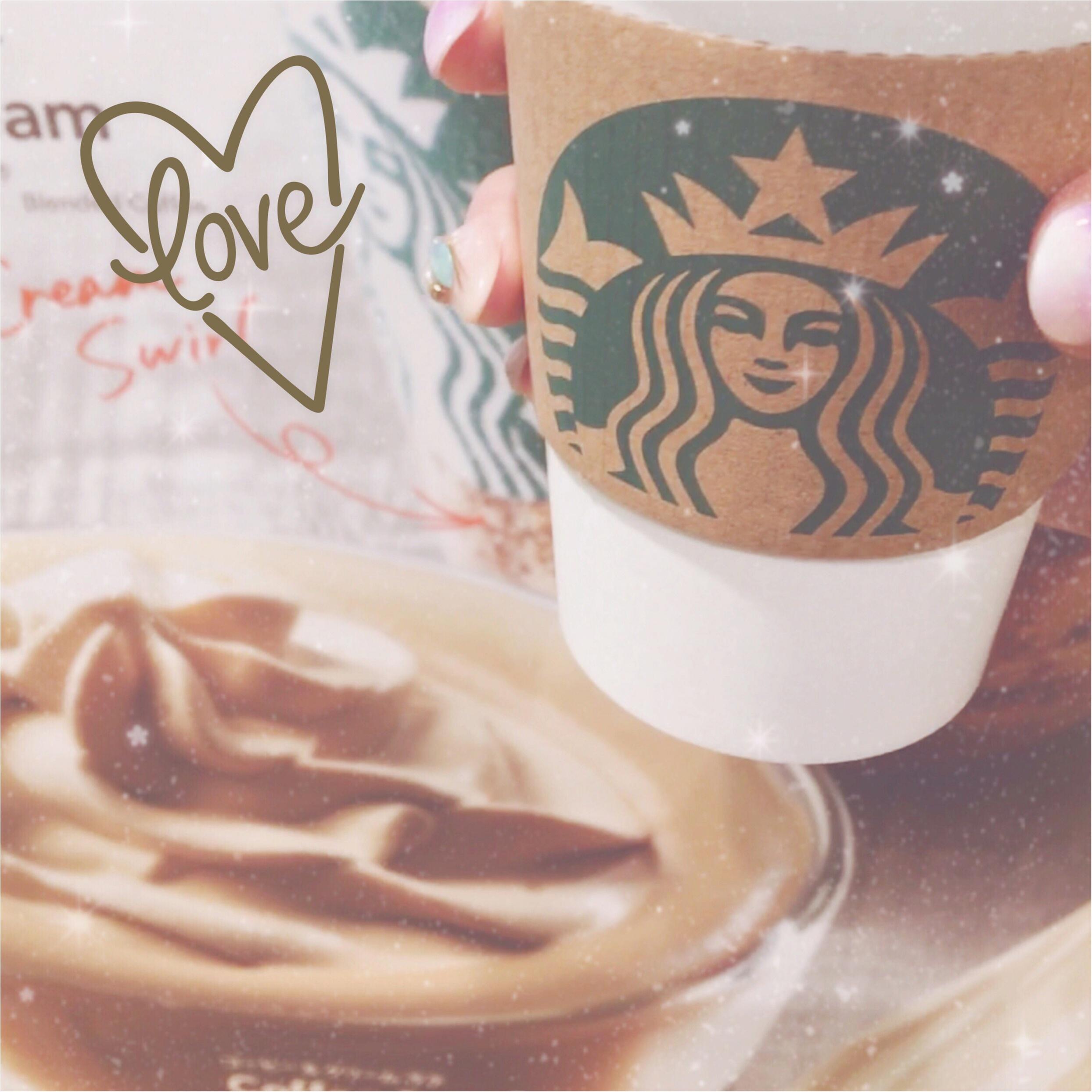 【スタバ】幻のラテ♡コーヒー&クリームラテをシロップ変更するのにはまってます❤️_1