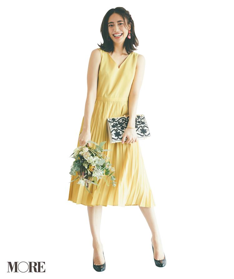 """結婚式で素敵に""""目を引く""""人になりたいなら。マスタードイエローのドレスにトライ!_1_3"""