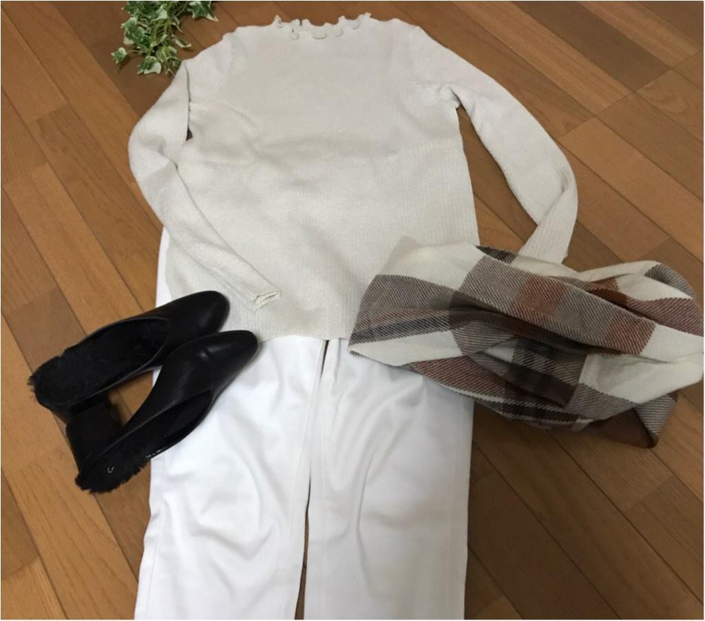 """【GU】の""""ホワイト""""でつくる《通勤コーデ》★新年一発目の仕事服は、いつもより気合を入れたい!!_4"""
