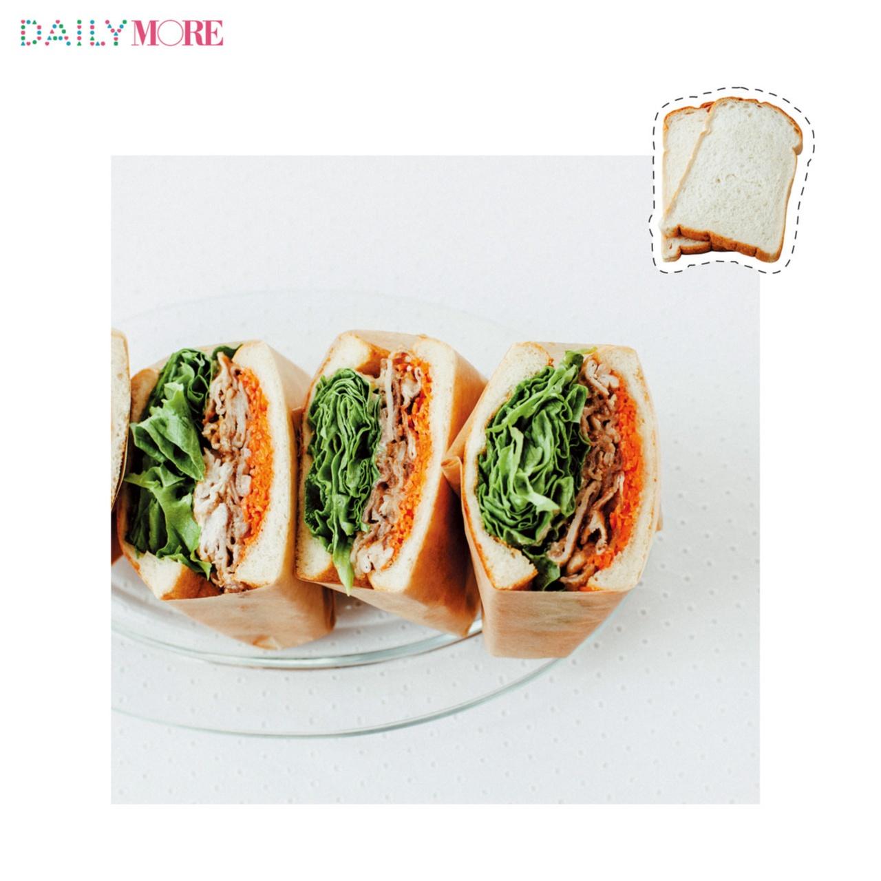 ピーナッツバターの隠し味でヤミツキ♡ 男子も大好き!「スタミナ豚しゃぶサンドイッチ」レシピ_1