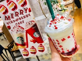 【スタバ新作】ホリデーシーズン到来★とにかく可愛い《メリーストロベリー ケーキ》で一足早くクリスマス気分♡
