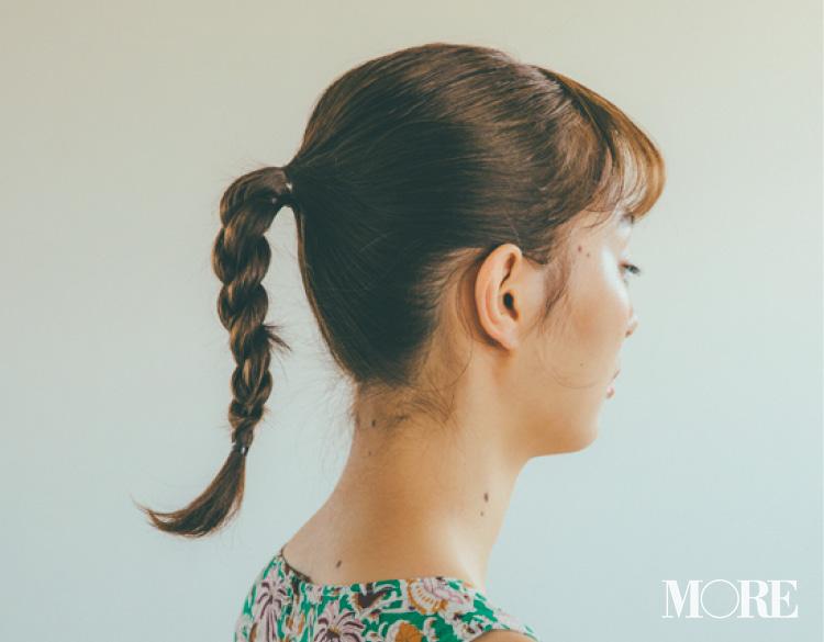 休日のヘアアレンジ♡ 「花柄ワンピ」×「三つ編みポニー」で、ロング・ミディアム・ボブの印象をいっきに夏らしく♡_4