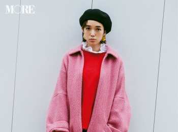 【今日のコーデ】女子会でホメられること請け合い☆ ピンクと赤をワントーン感覚で着る新しさ