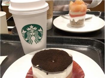コーヒーとのペアリング◎スタバのチョコレートレイヤーケーキがオシャレおいしすぎる♡