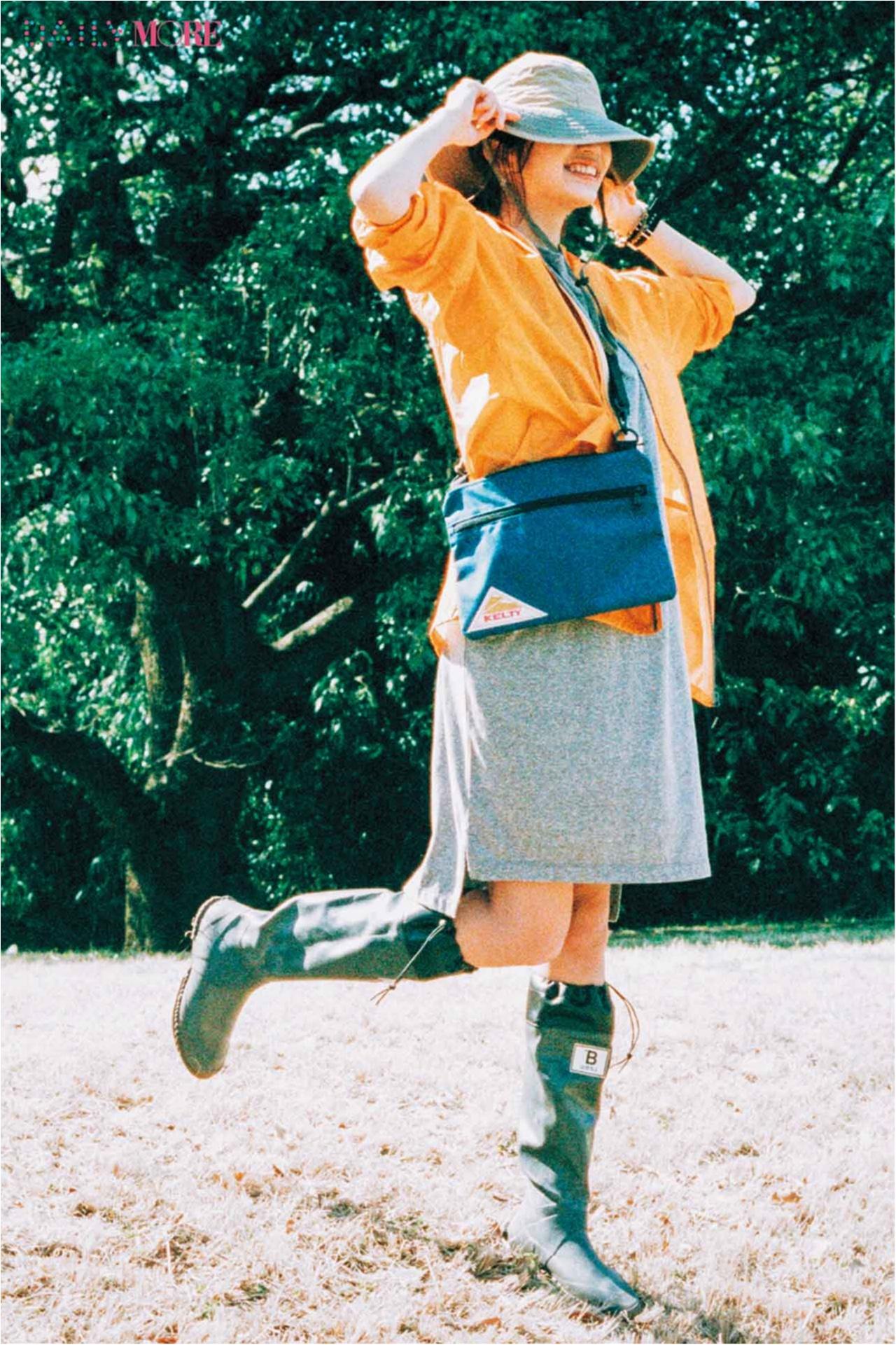 【今日のコーデ/江夏詩織】フェスシーズン、始まる! プロ仕様『日本野鳥の会』の長靴はいて、はじけよう_1