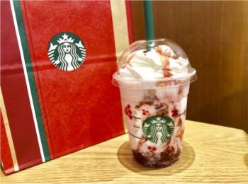 【スタバ】飲まなきゃ損な新作!《クリスマスストロベリーケーキフラペチーノ》がおいしすぎる❤️