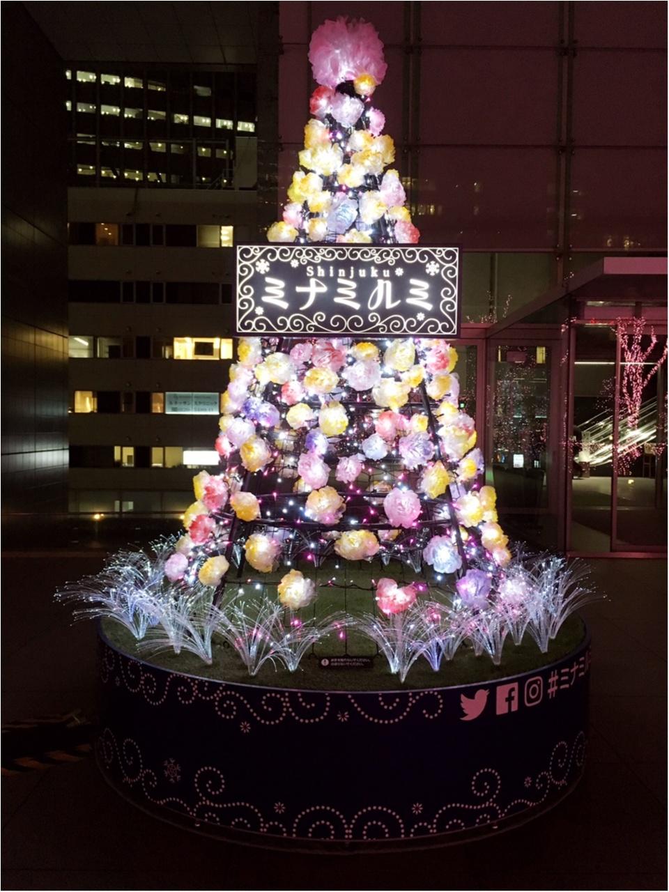 新宿の冬をベビーピンク色に染め上げる♡『新宿テラスシティ』のイルミネーションが女子力高め!体験型の『スマイルタワー』って?♡_9