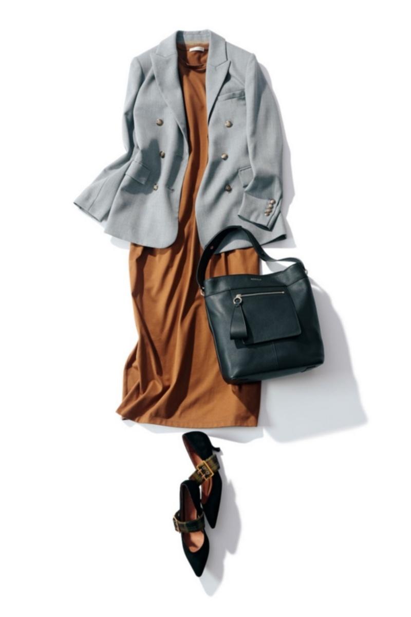 ジャケット,ワンピース,オフィスカジュアル,オフィス服,トレンド
