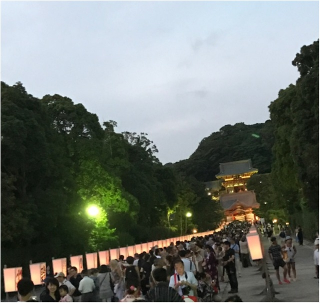《カメラ女子、必見!》夏の夜を涼しげに♪鎌倉のぼんぼり祭りは9日まで!_1