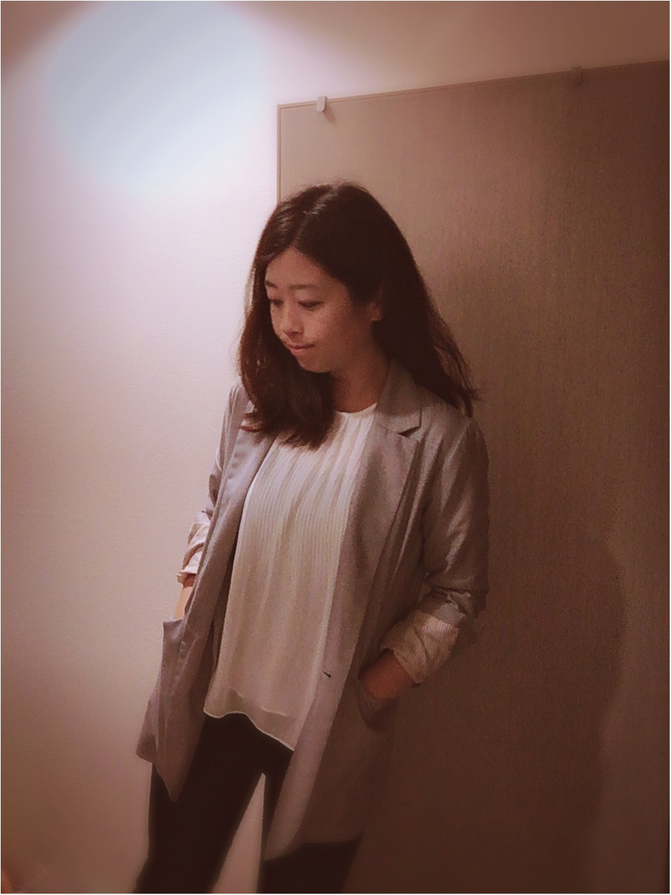 黒✖白✖グレーのバランスコーデで痩せ見え_1