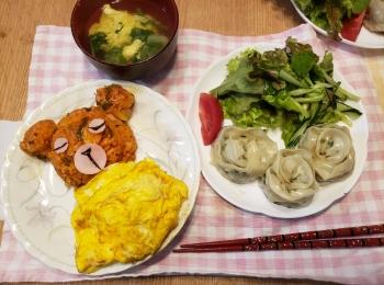 【可愛すぎるディナーを】何万年ぶりに料理したまりこの簡単かわいいご飯♡