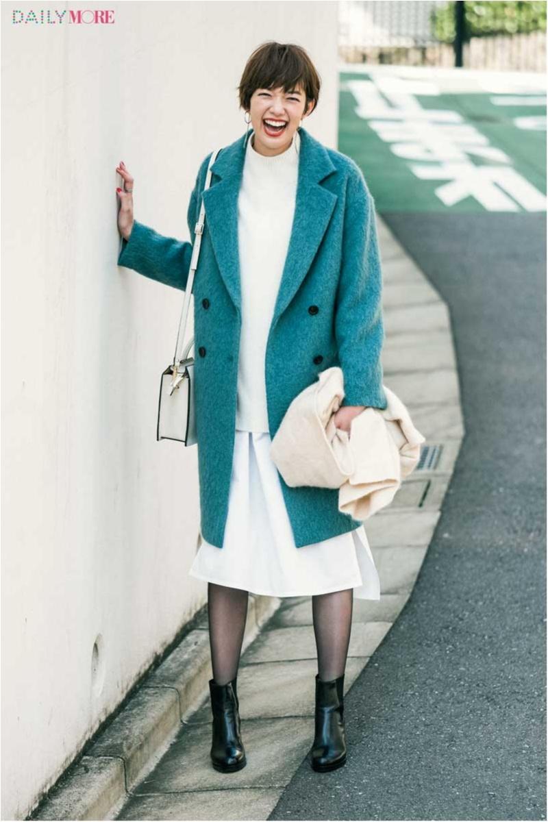 【今日のコーデ/佐藤栞里】冬の白ってやっぱり素敵♡ きれい色コートでスタイルアップもおまかせ。_1