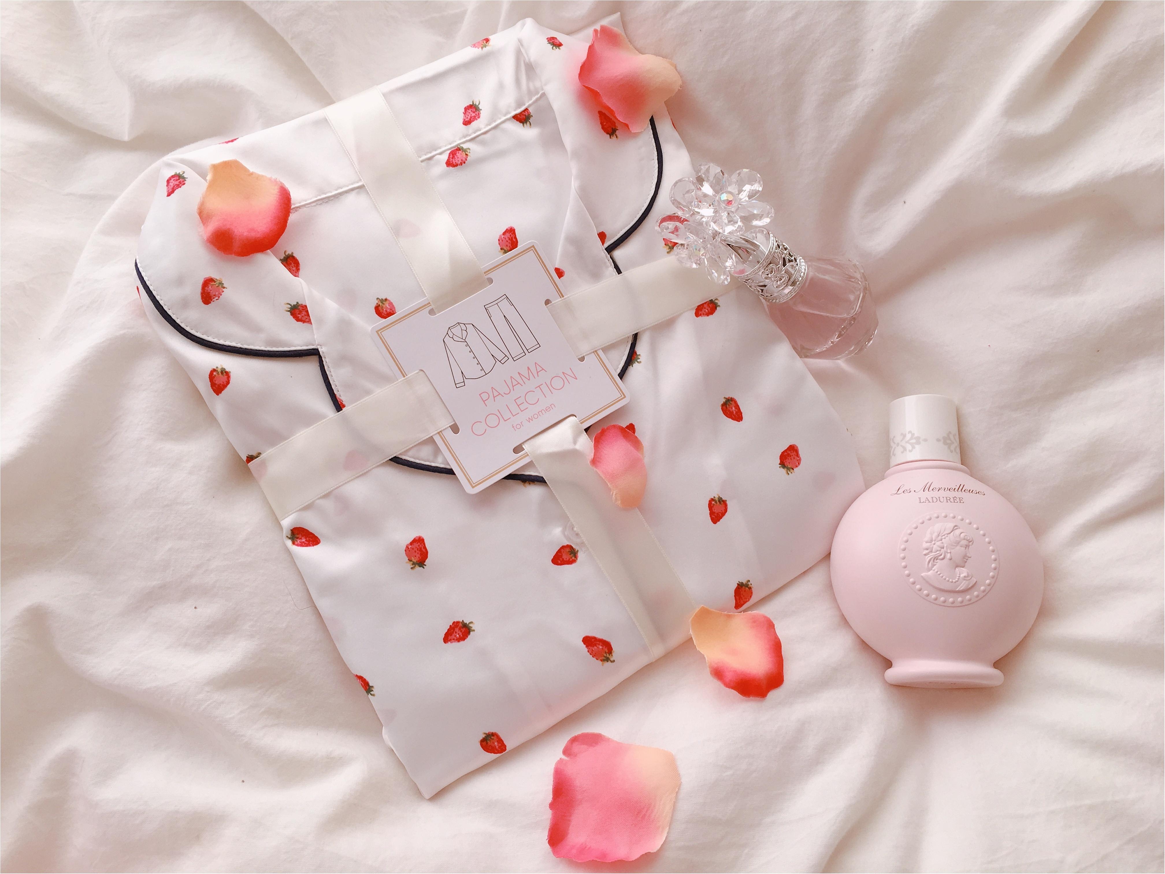 【GU(ジーユー)】いちごパジャマがかわいすぎて春が待ち遠しい!_1