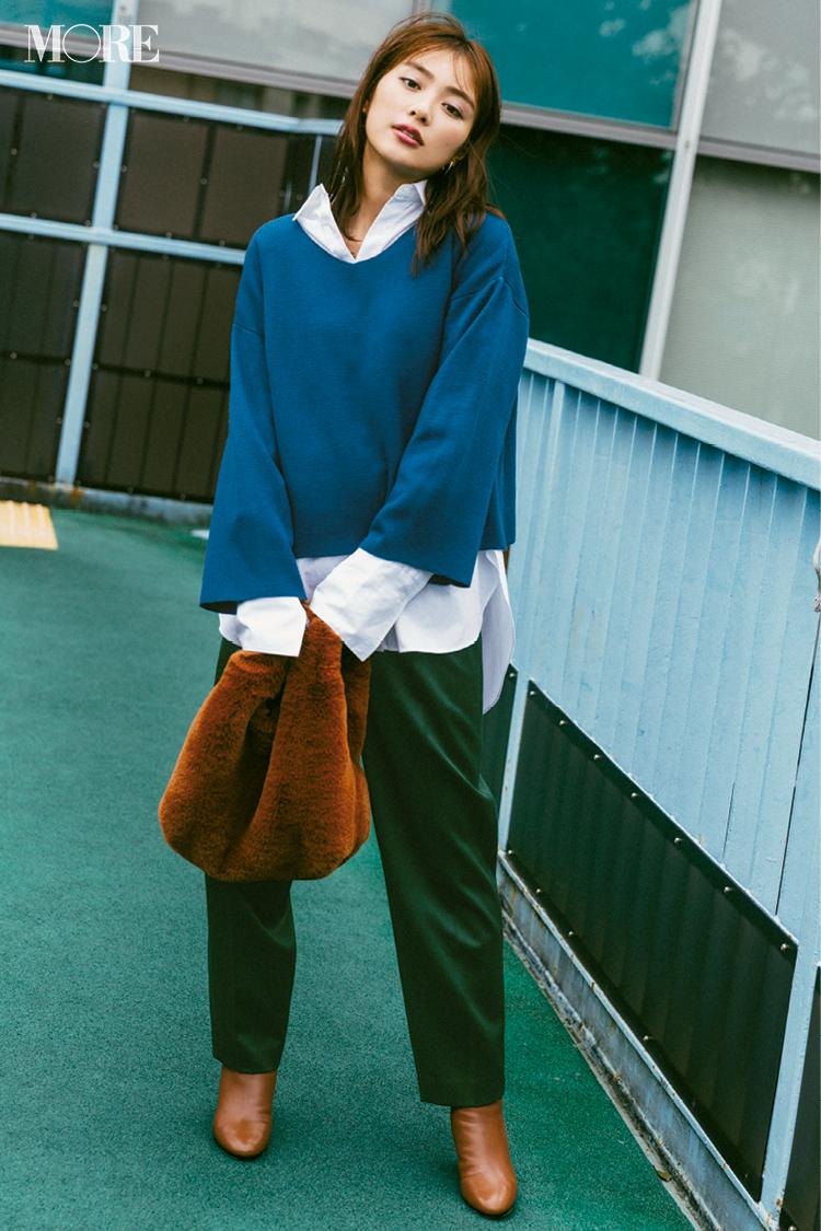 ビッグサイズがポイント! 2019年冬から春にかけて着たいシャツコーデ | ファッション_1_4