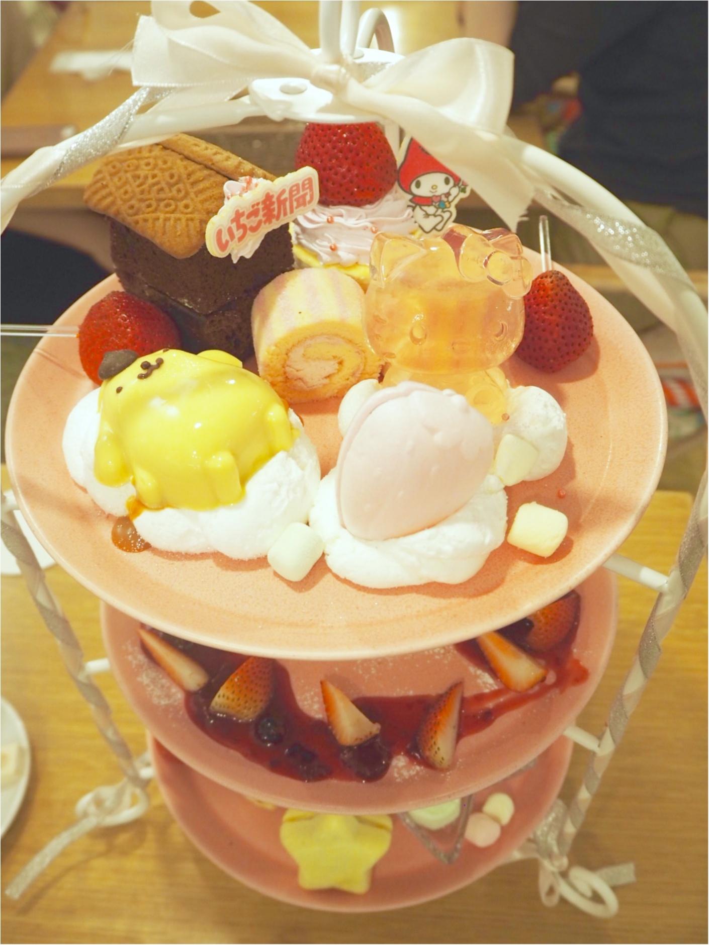 ▽・ω・▽『いちご新聞カフェ』サンリオキャラたちのかわいいアフタヌーンティー❤︎_3
