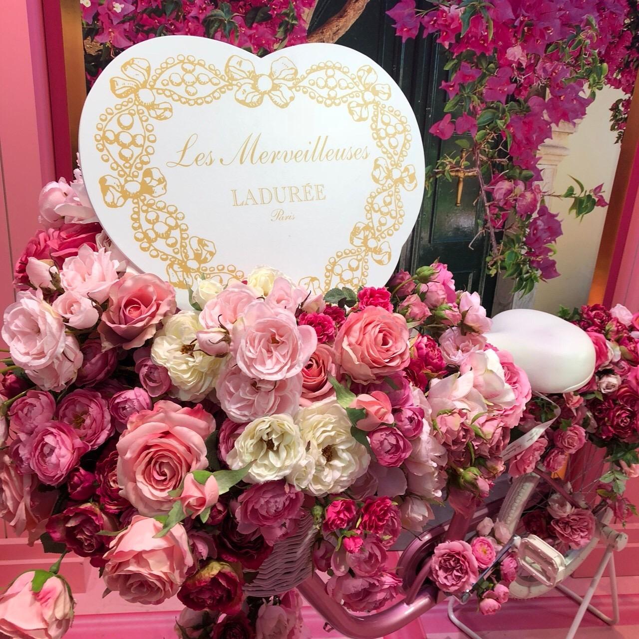 ピンクが可愛い❤︎ラデュレのイベントスペース!_3
