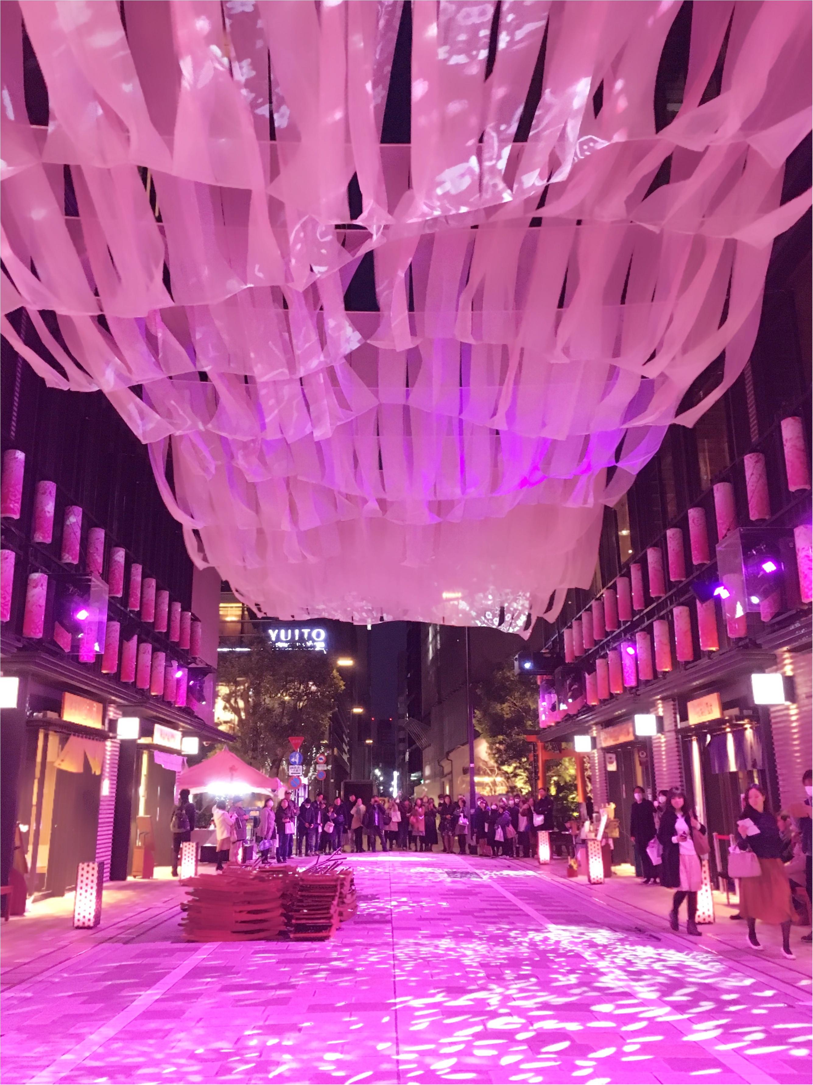 【日本橋桜フェスティバル2017】の【桜色ライトアップ】で一足早くお花見気分(*°○°*)♡_2