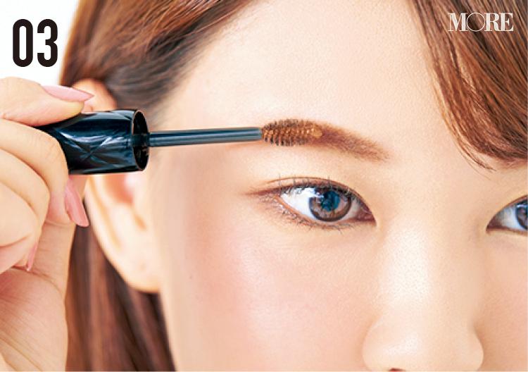 小顔効果のある眉の描き方や、夜まで崩れない眉メイクのコツとは⁉ 美容家・立花ゆうりさんの『優しげピンク眉』に注目 _5