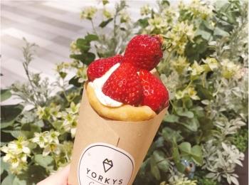 あまおうと生クリームのハーモニー ♡ クレープ専門店 『 ヨーキーズクレープリー 』が大阪にNewオープン ♡♡