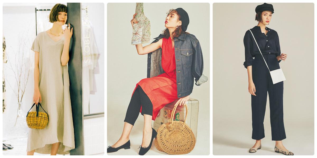 6b490b803e7 着るだけで女性らしいおしゃれが叶うリネン素材の服は、夏コーデのマストアイテム! さらっと着て絵になるワンピースや、抜け感がちょうといいシャツ、パンツなど  ...