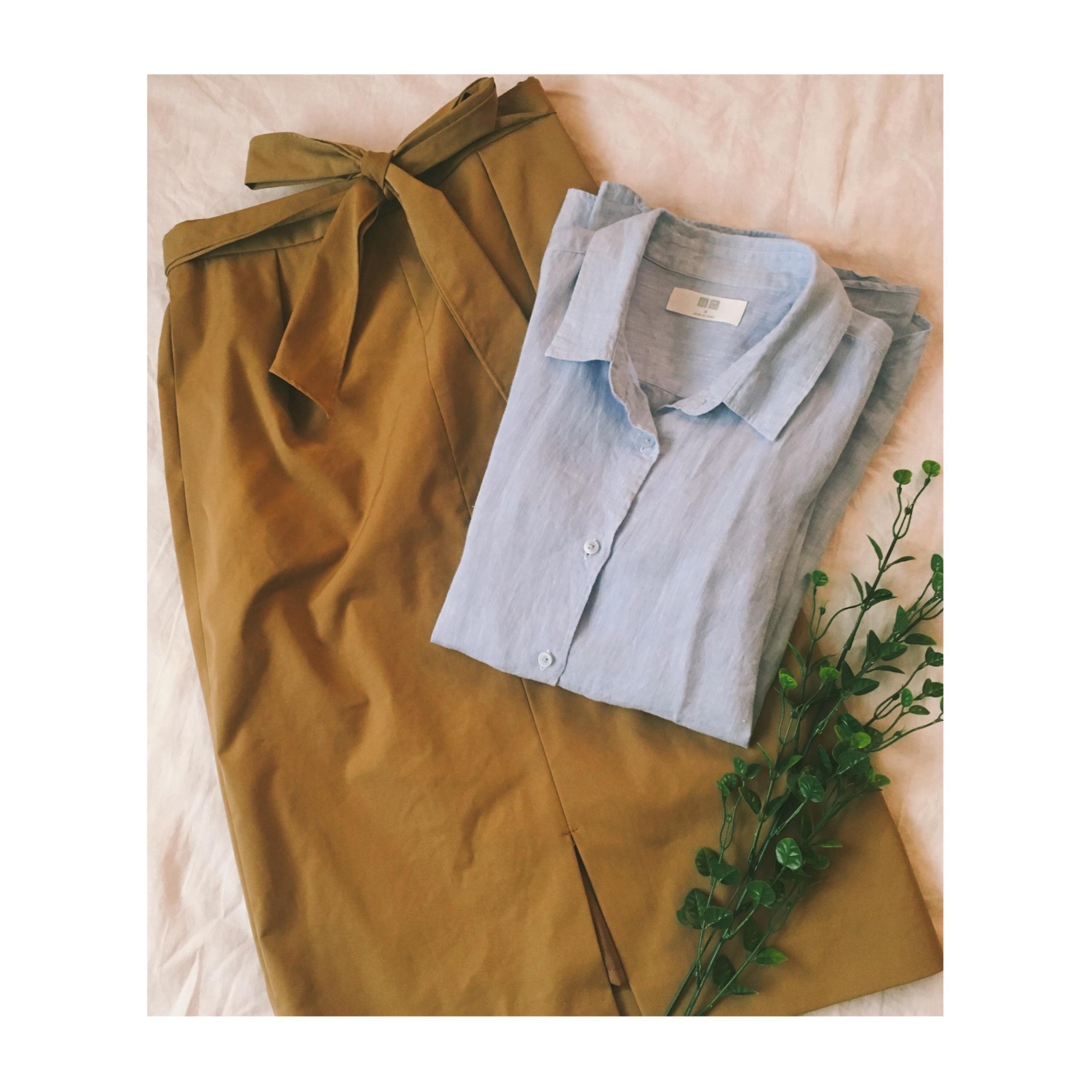 《やっぱり優秀!》今年はこう着回します✌︎★【UNIQLO】のプレミアムリネンシャツで着回し4コーデ❤️_5