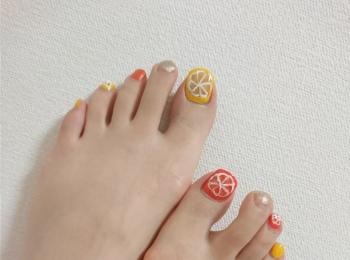 夏の遊びネイルにはフルーツネイルがぴったり☆~休日ネイル~