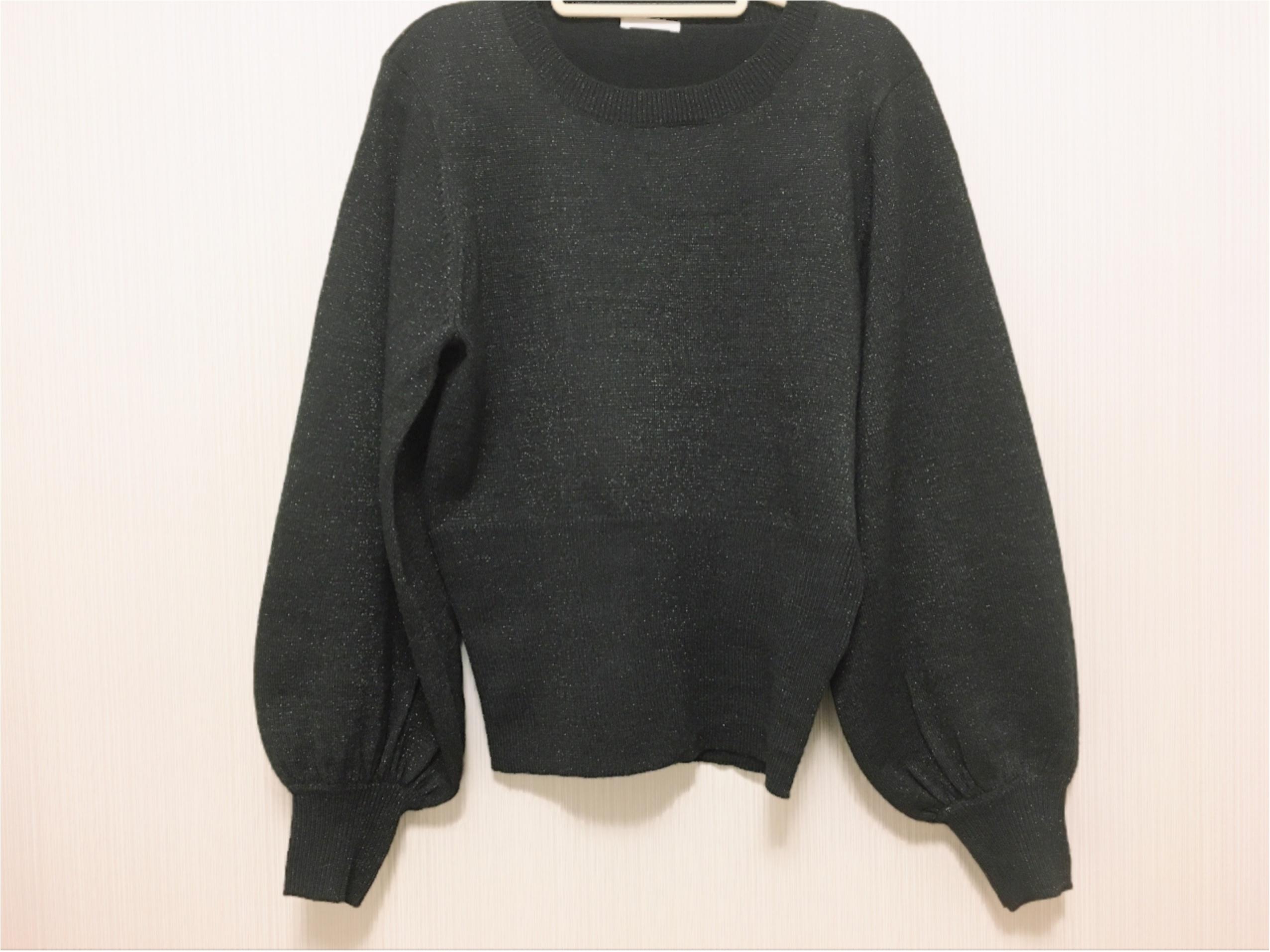 【GU】『ラメパフスリーブセーター』は、あまり取り上げられていない隠れヒット服!_1