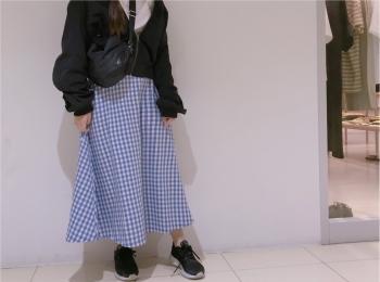 【GU】のギンガムチェックが可愛すぎる❤︎プチプラに見えないフレアスカートを購入しました!