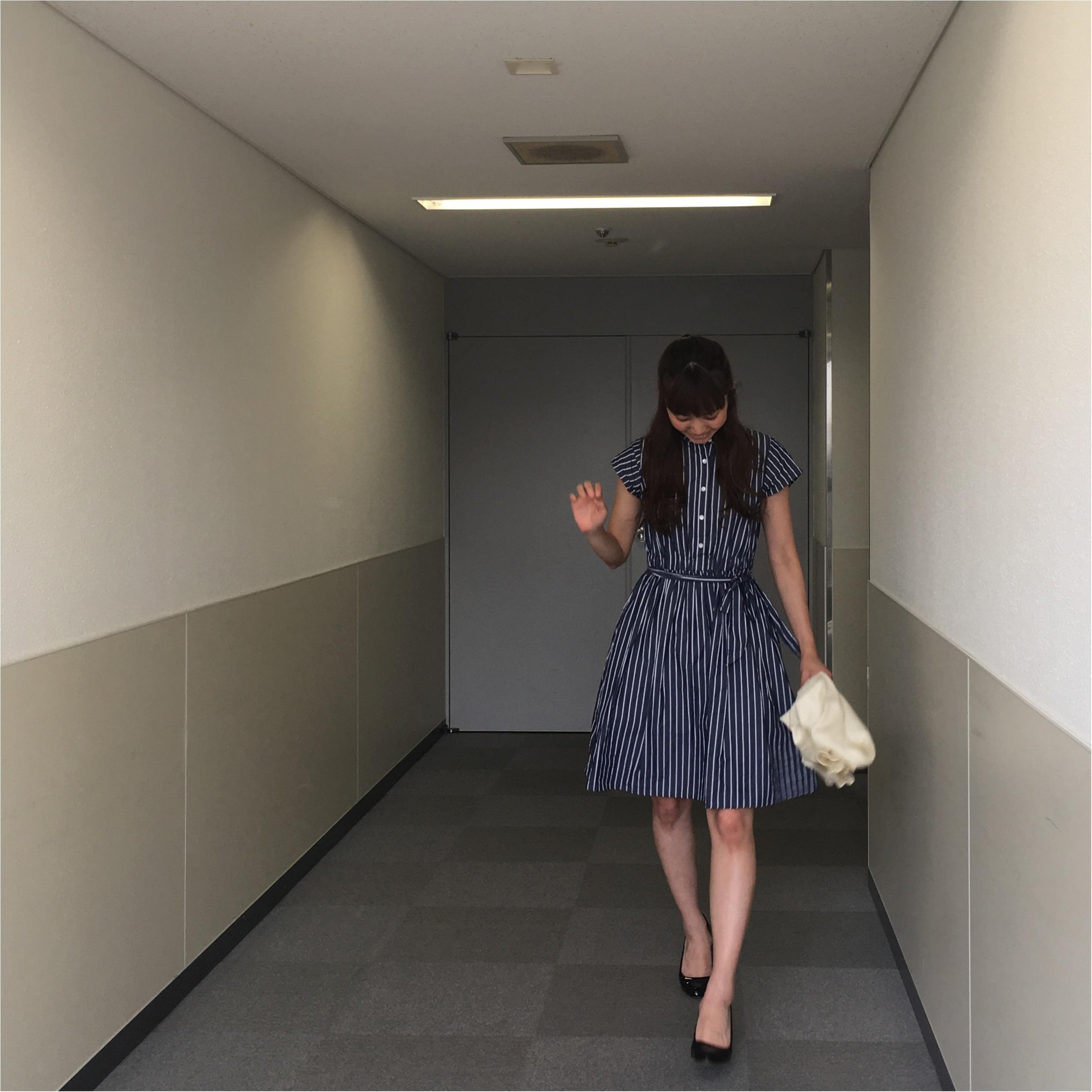 今から真夏まで着れちゃう!Flower Days のストライプのワンピースがかわいい!!ワンピースの着回しコーデ♪_6