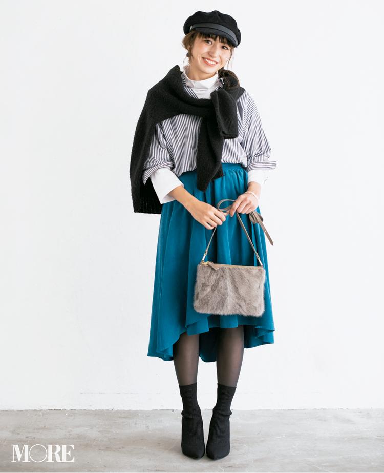 【読者変身】無難、甘すぎ、いつも同じ……きれい色スカートのお悩み、スタイリスト高野さんが解決します☆_3_5
