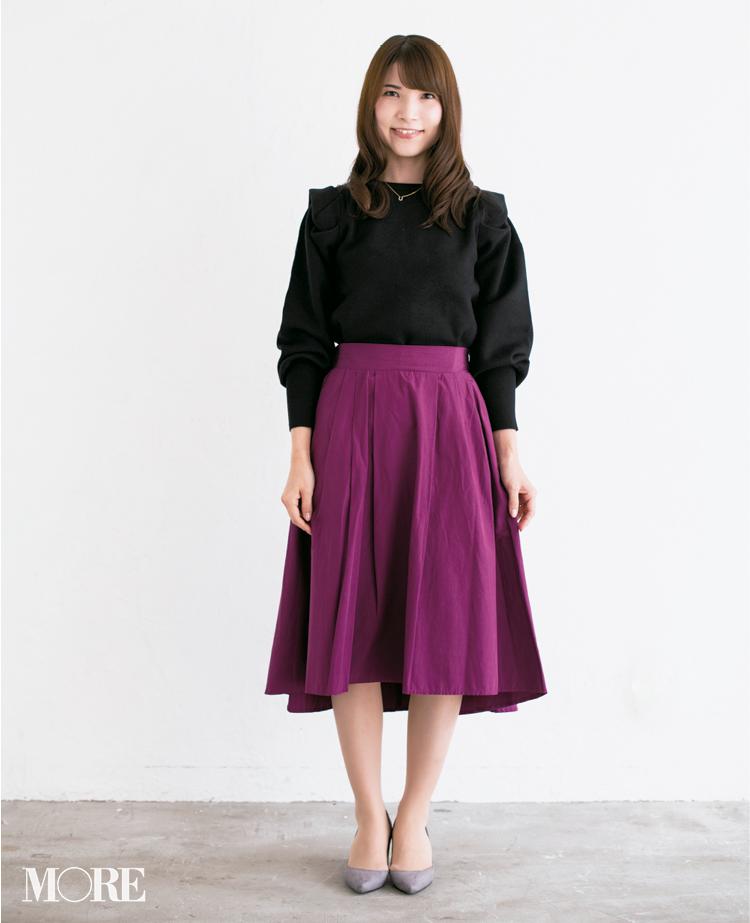 【読者変身】無難、甘すぎ、いつも同じ……きれい色スカートのお悩み、スタイリスト高野さんが解決します☆_4_1